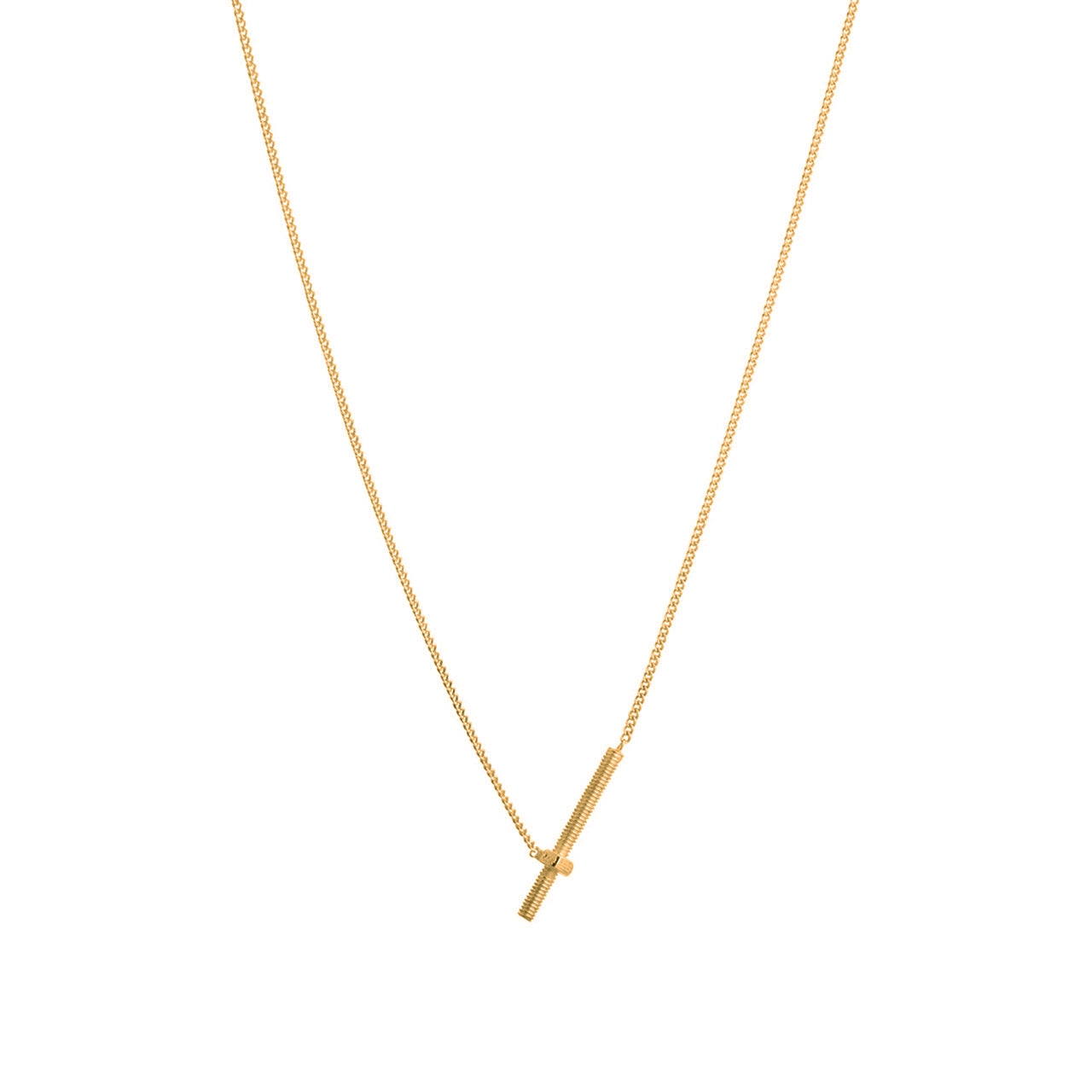 gold screw thread necklace