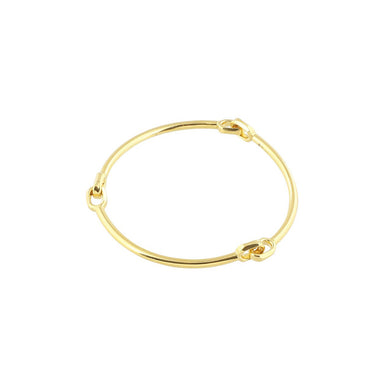 gold semi flex bangle