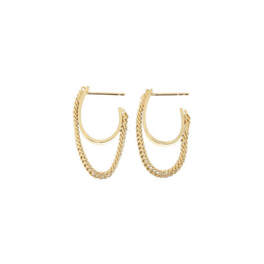 gold semi flex hoop earrings