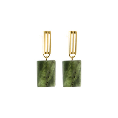 gold serpentine pendant earrings