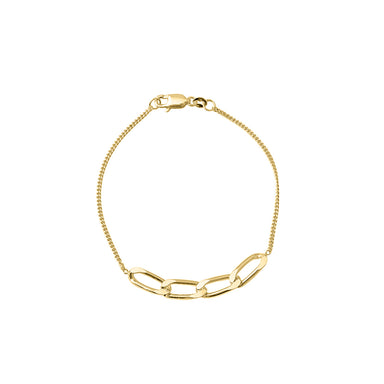 gold simple chain bracelet