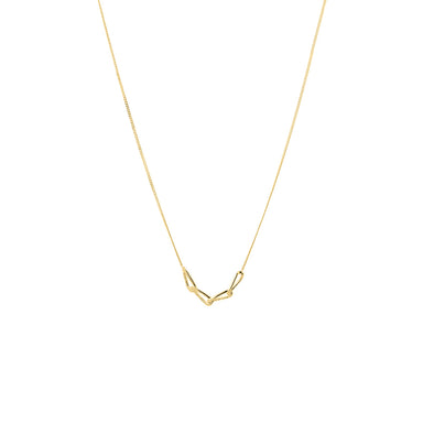 gold simple chain necklace