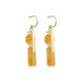 gold stacked aragonite earrings