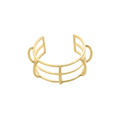 gold statement cuff bracelet