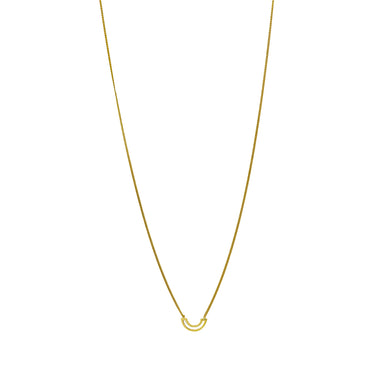 gold subtle arch necklace