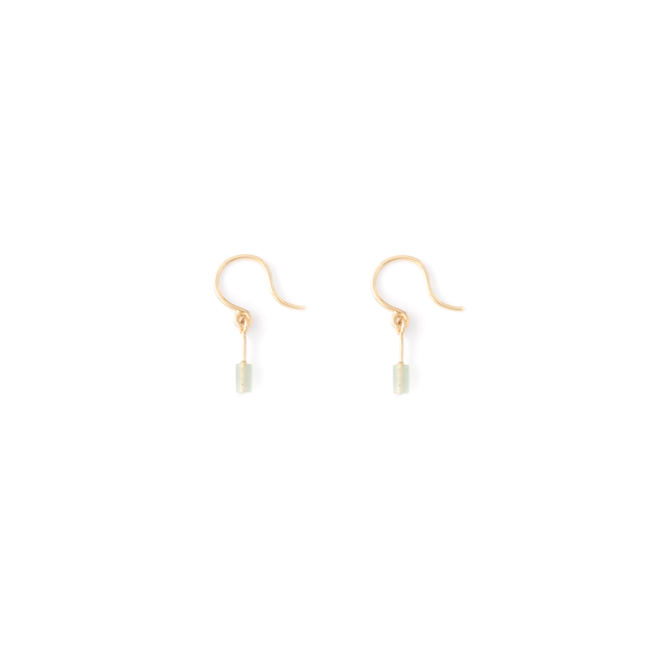 gold subtle aventurine hook earrings