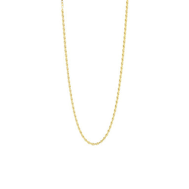 gold subtle link necklace
