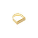 gold textured u-shape ring