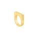 gold three layer u-shape ring