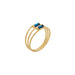 gold triple round hematite ring