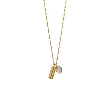 gold two pendants necklace