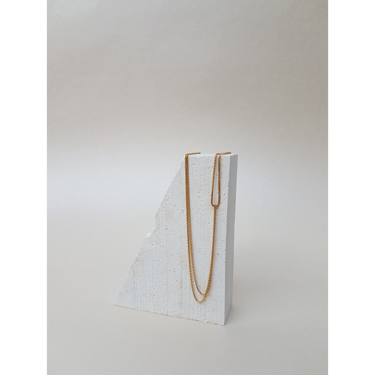 two looped chain necklace