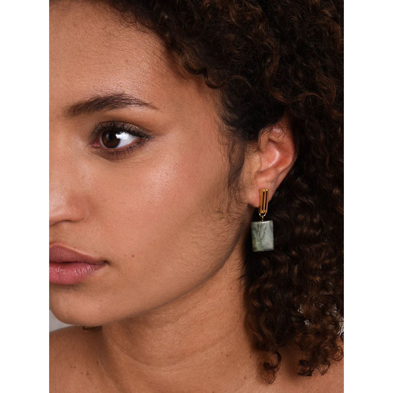 serpentine pendant earrings