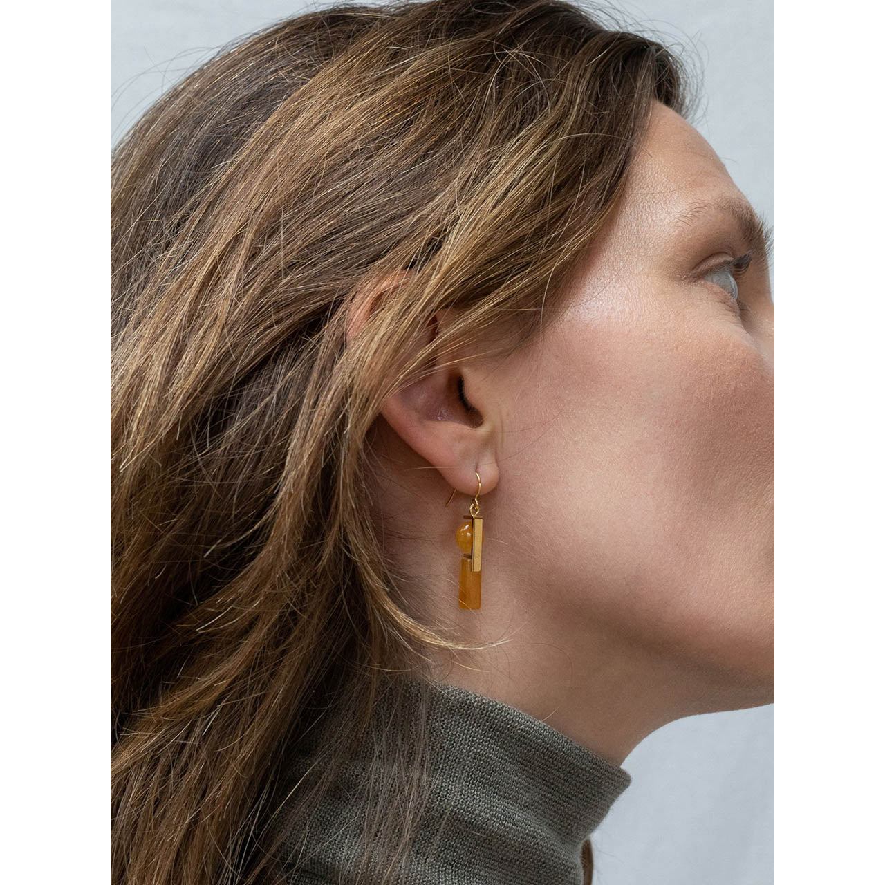 stacked aragonite earrings