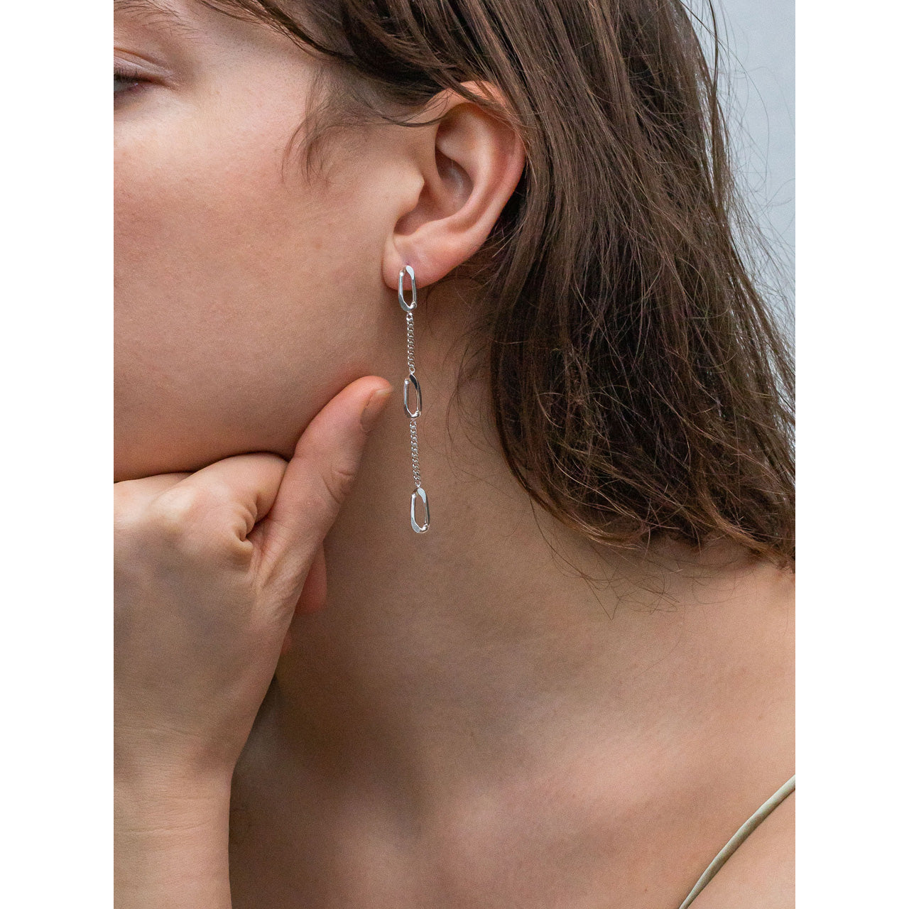 elegant long chain earrings