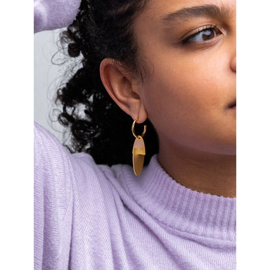 oval disk earrings