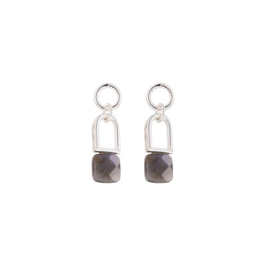 silver F11 earrings