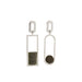 silver asymmetric jasper serpentine earrings