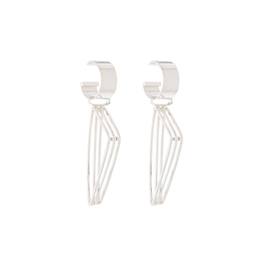 silver edith earrings