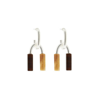 silver engraved agate jasper pendant earrings