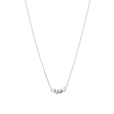 silver four link pendant necklace