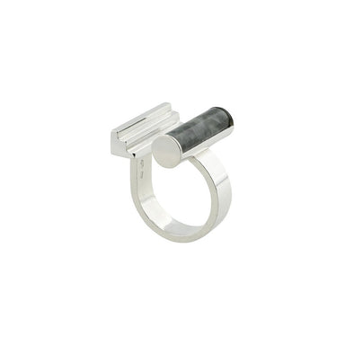 silver jade statement ring