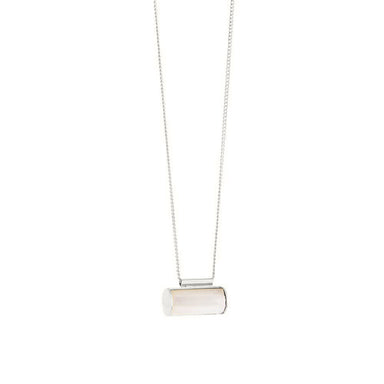 silver mother of pearl pendant necklace