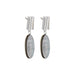 silver oval mother of pearl earrings