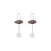 silver quartz crystal pearl earrings