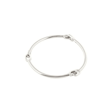 silver semi flex bangle