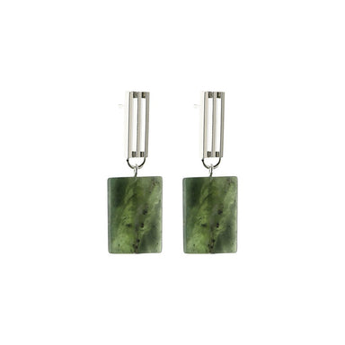 silver serpentine pendant earrings