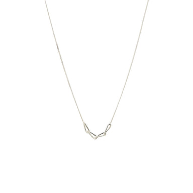 silver simple chain necklace