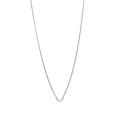 silver subtle arch necklace