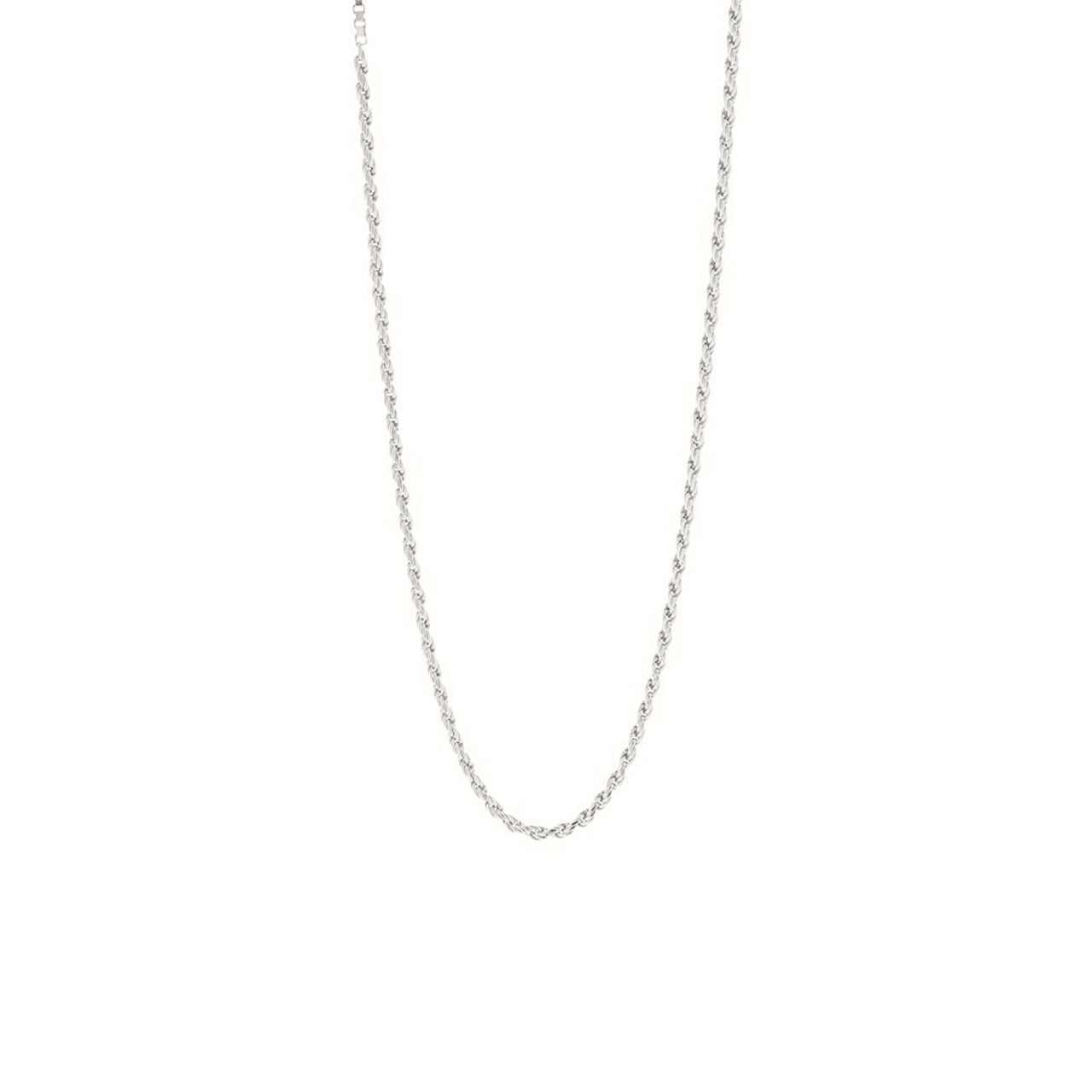 silver subtle link necklace