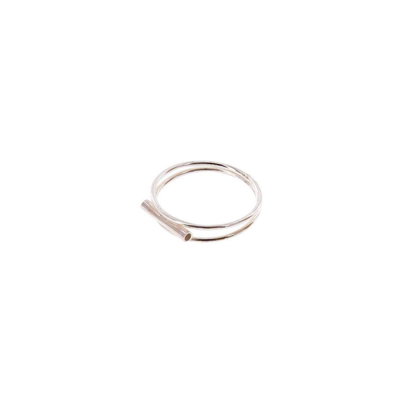 silver tube ring
