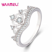 Load image into Gallery viewer, Rings for Women Female Pure 925 Sterling Silver Jewelry Rings Party Decoration