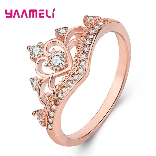 Rings for Women Female Pure 925 Sterling Silver Jewelry Rings Party Decoration