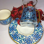 Blue Full Coffee & Tea Ottoman Serving Set - A01