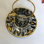 Black Full Coffee & Tea Ottoman Serving Set - A02