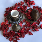 Copper Coffee Ottoman Design Serving Set - A08