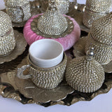 Silver Strass Coffee Ottoman Design Serving Set - A10