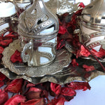 Silver Coffee Ottoman Design Serving Set - A11