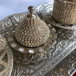 Silver Strass Two Person Coffee Ottoman Design Serving Set - A13