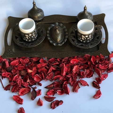 Two Person Coffee Ottoman Design Serving Set - A14