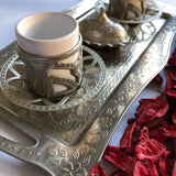 Silver Two Person Coffee Ottoman Design Serving Set - A15