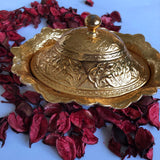 Golden Suger & Delight Bowl Ottoman Design - A20