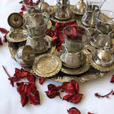 Full Tea Cups Set with Tray - Ottoman Traditional Design - A60