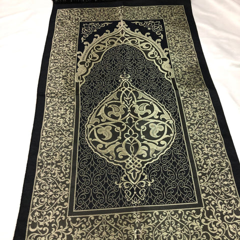 Black Prayers Carpet For Muslims - H20-1