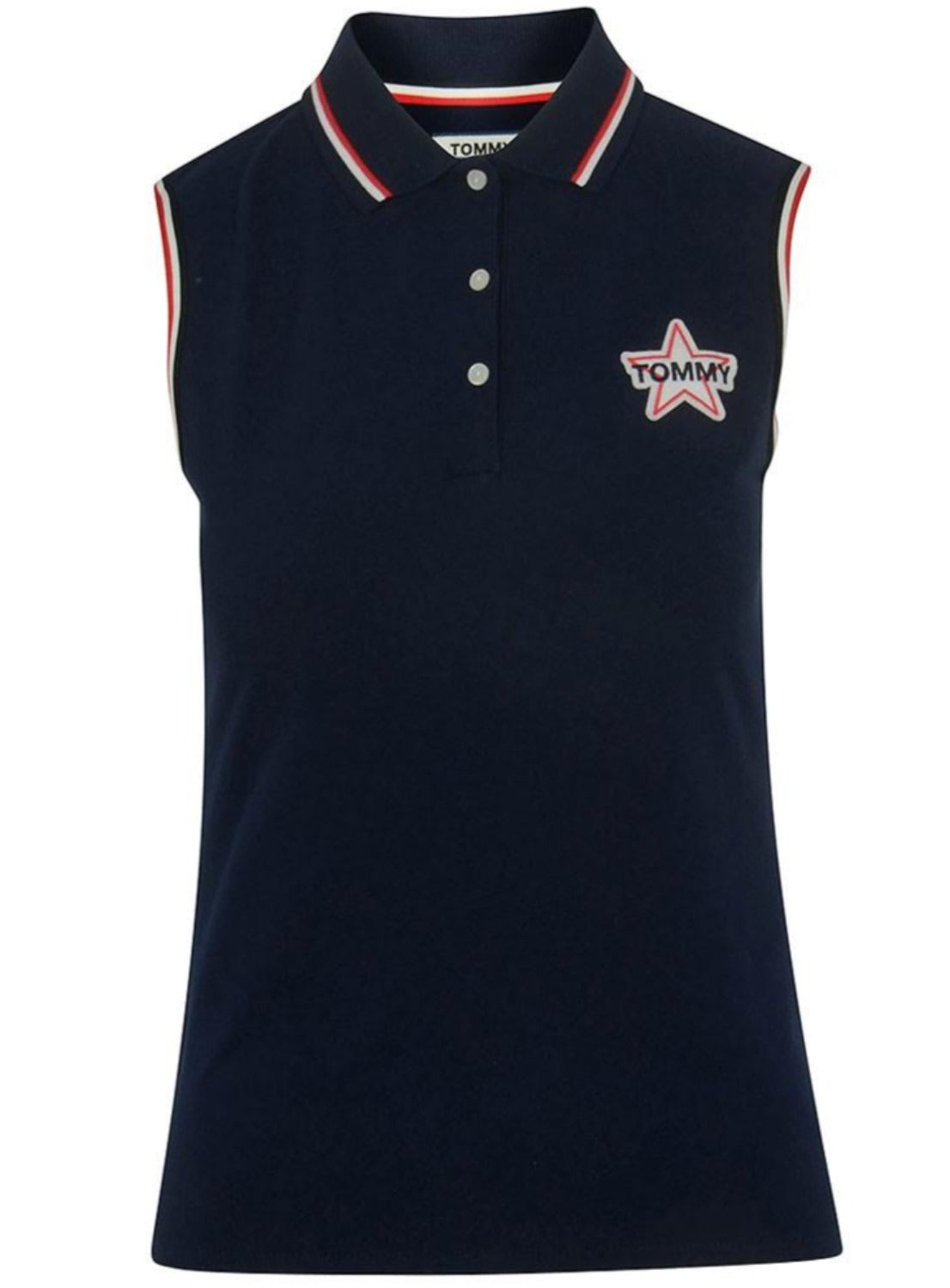 TJW BADGE SLEEVELESS POLO DW0DW04302