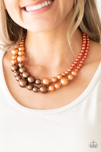The More The Modest - Multi - Orange and Brown Pearls